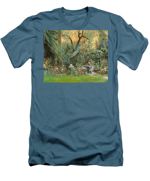Our Little Garden Men's T-Shirt (Slim Fit) by Guido Borelli