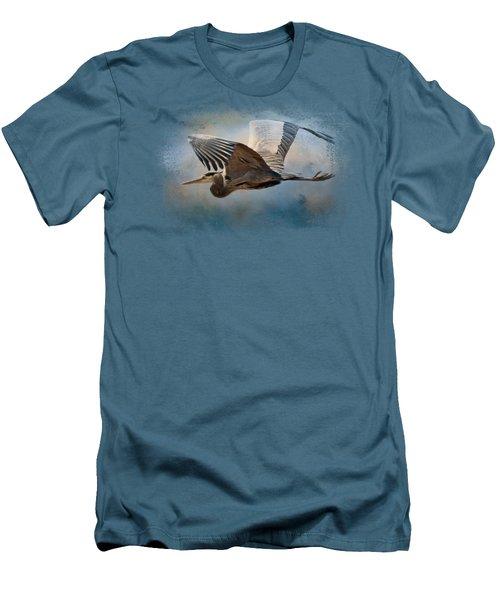 Over Ocean Skies Men's T-Shirt (Slim Fit) by Jai Johnson