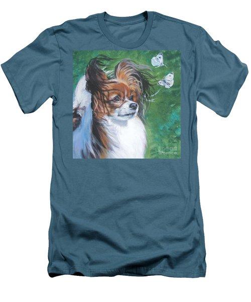 Papillon And Butterflies Men's T-Shirt (Slim Fit) by Lee Ann Shepard