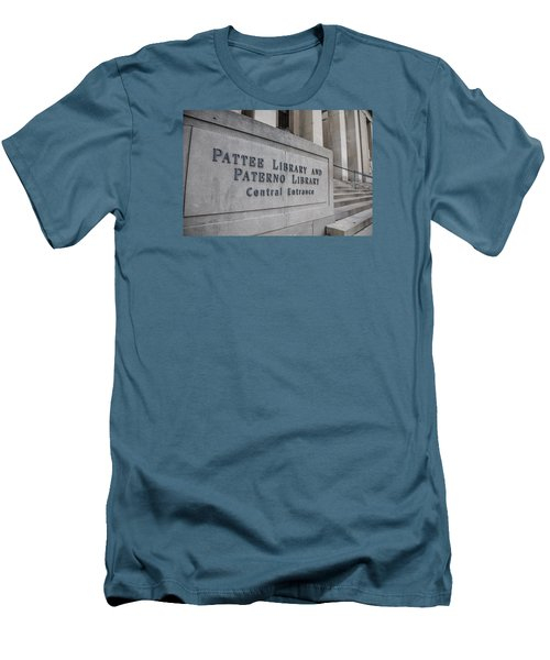 Paterno Library At Penn State  Men's T-Shirt (Slim Fit) by John McGraw