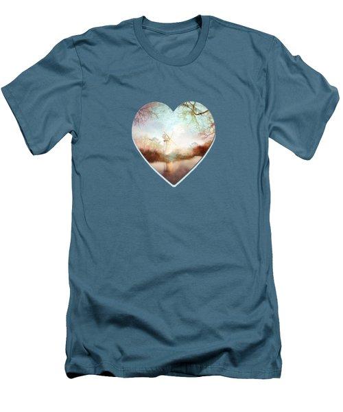 Porcelain Skies Men's T-Shirt (Slim Fit) by Valerie Anne Kelly