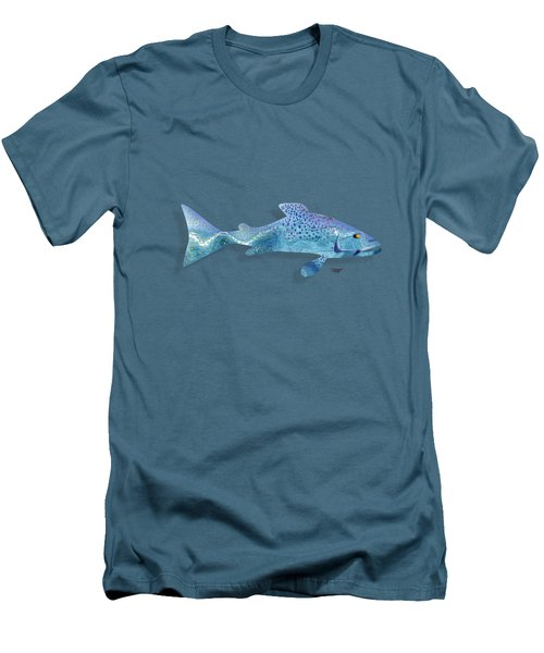 Rainbow Trout Men's T-Shirt (Slim Fit) by Mikael Jenei