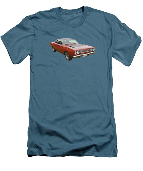Red 1968 Plymouth Roadrunner Muscle Car Men's T-Shirt (Slim Fit) by Keith Webber Jr