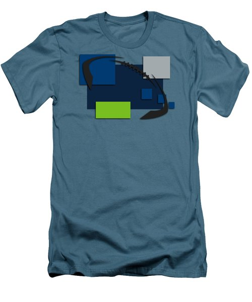 Seattle Seahawks Abstract Shirt Men's T-Shirt (Slim Fit) by Joe Hamilton
