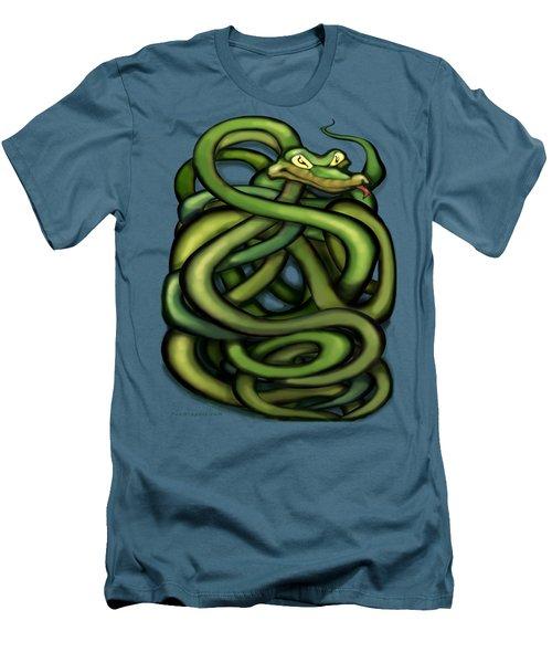 Snakes Men's T-Shirt (Slim Fit) by Kevin Middleton