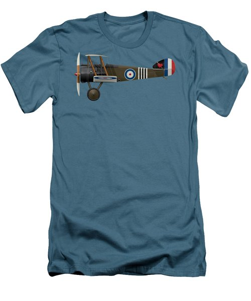 Sopwith Camel - B6313 June 1918 - Side Profile View Men's T-Shirt (Slim Fit) by Ed Jackson