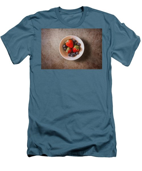 Strawberries And Blueberries Men's T-Shirt (Slim Fit) by Scott Norris