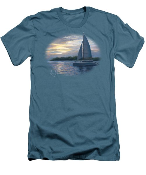 Sunset In Key West Men's T-Shirt (Slim Fit) by Lucie Bilodeau