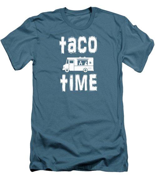 Taco Time Food Truck Tee Men's T-Shirt (Slim Fit) by Edward Fielding