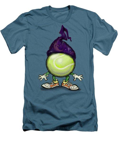 Tennis Wiz Men's T-Shirt (Slim Fit) by Kevin Middleton