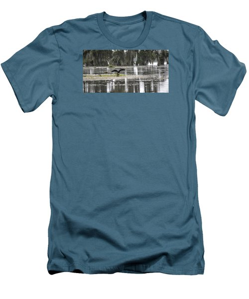The Announcer  Men's T-Shirt (Slim Fit) by Betsy Knapp