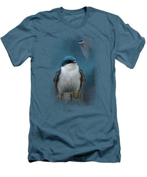 The Beautiful Tree Swallow Men's T-Shirt (Slim Fit) by Jai Johnson