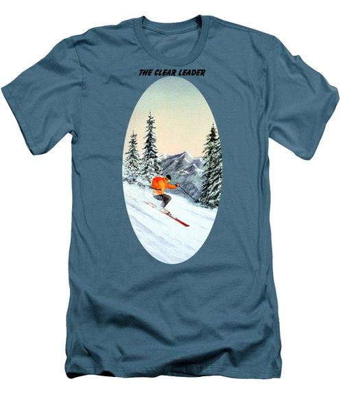 The Clear Leader Skiing Men's T-Shirt (Slim Fit) by Bill Holkham