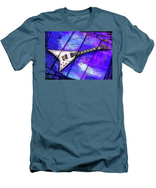 The Concorde On Blue Men's T-Shirt (Slim Fit) by Gary Bodnar