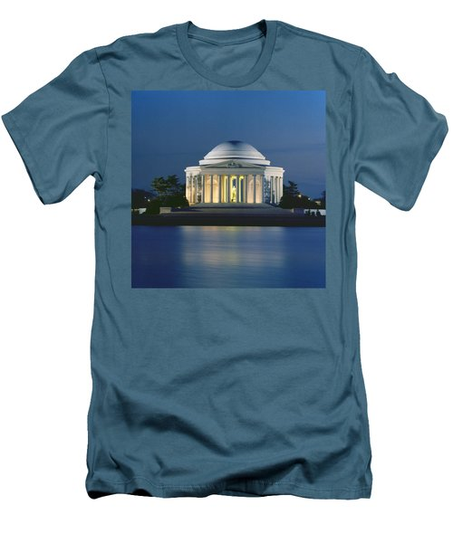 The Jefferson Memorial Men's T-Shirt (Slim Fit) by Peter Newark American Pictures