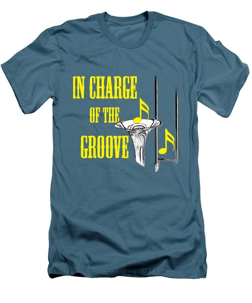 Trombones In Charge Of The Groove 5534.02 Men's T-Shirt (Slim Fit) by M K  Miller