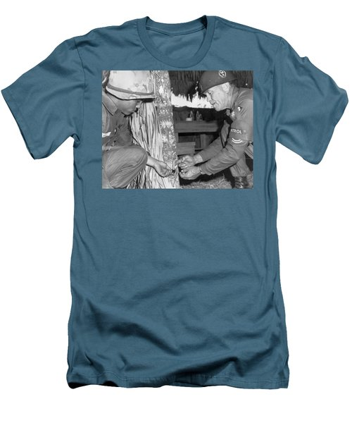 Viet Cong Booby Trap Men's T-Shirt (Slim Fit) by Underwood Archives