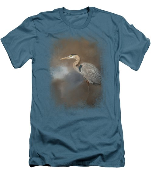 Walking Into Blue Men's T-Shirt (Slim Fit) by Jai Johnson