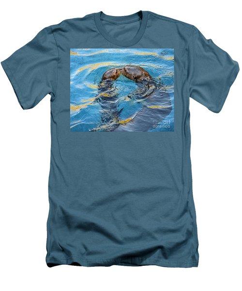 Water Kisses Men's T-Shirt (Slim Fit) by Jamie Pham