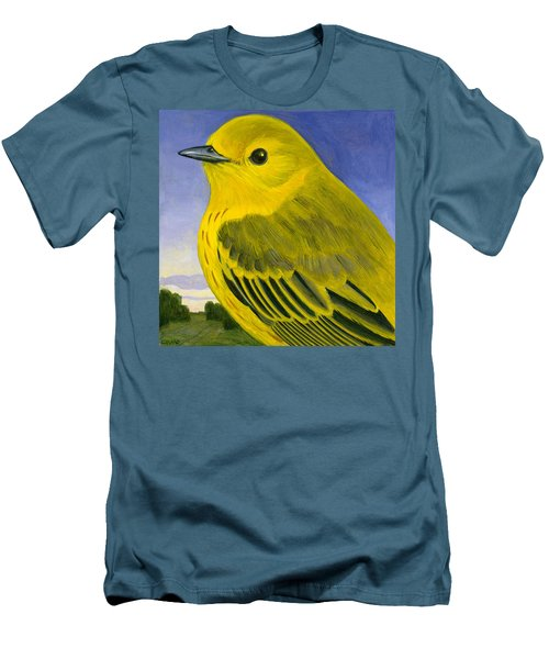 Yellow Warbler Men's T-Shirt (Slim Fit) by Francois Girard