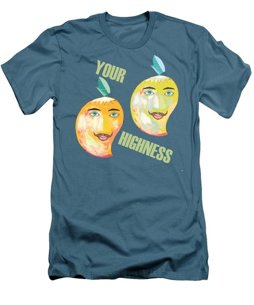 Your Highness B Men's T-Shirt (Slim Fit) by Thecla Correya
