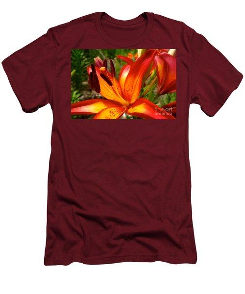 Royal Sunset Lily Men's T-Shirt (Slim Fit) by Jacqueline Athmann