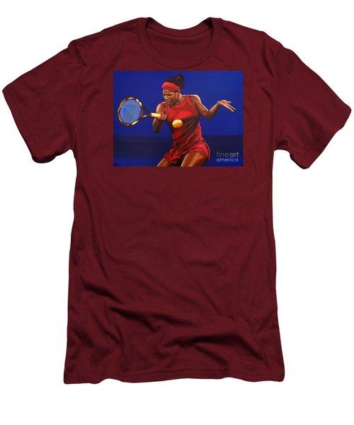 Serena Williams Painting Men's T-Shirt (Slim Fit) by Paul Meijering