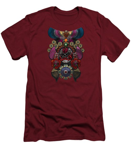 Chinese Masks - Large Masks Series - The Demon Men's T-Shirt (Slim Fit) by Serge Averbukh