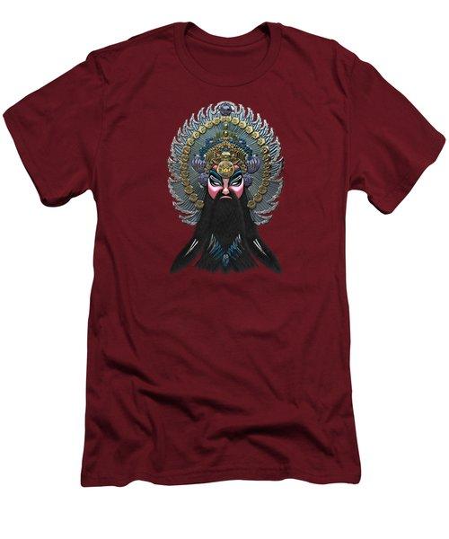 Chinese Masks - Large Masks Series - The Emperor Men's T-Shirt (Slim Fit) by Serge Averbukh