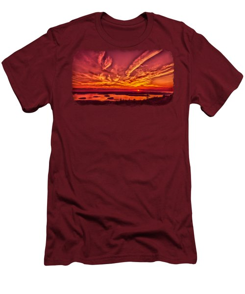 A New Maine Day Men's T-Shirt (Slim Fit) by John M Bailey