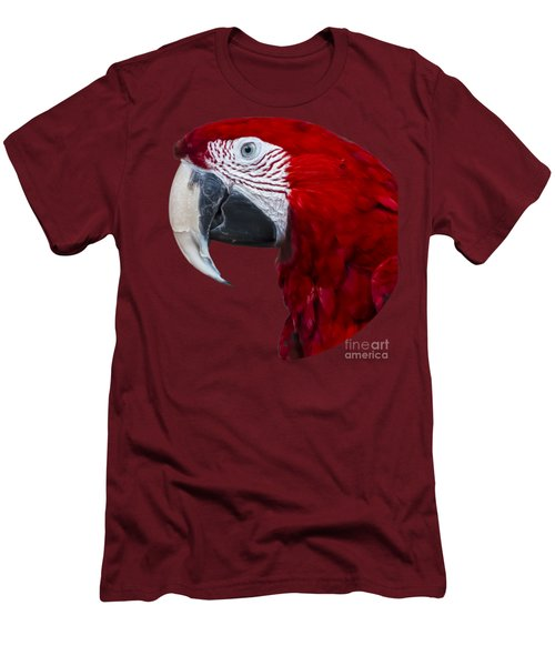 Red Macaw Men's T-Shirt (Slim Fit) by Mark Myhaver