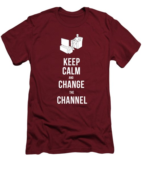 Keep Calm And Change The Channel Tee Men's T-Shirt (Slim Fit) by Edward Fielding