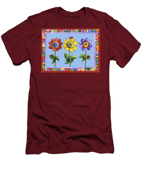 Ladybug Trio Men's T-Shirt (Slim Fit) by Shelley Wallace Ylst