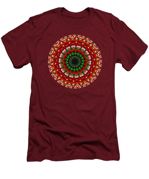 Mandala Tulipa By Kaye Menner Men's T-Shirt (Slim Fit) by Kaye Menner