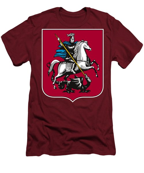 Moscow Coat Of Arms Men's T-Shirt (Slim Fit) by Frederick Holiday