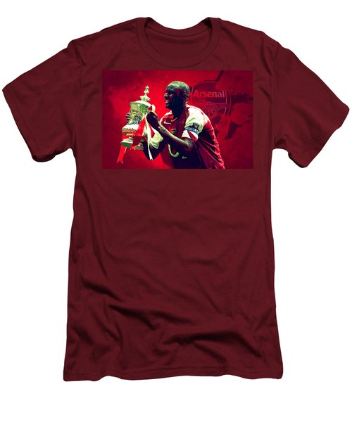 Patrick Vieira Men's T-Shirt (Slim Fit) by Semih Yurdabak