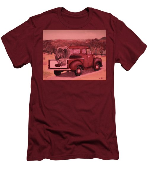 Ridin' With Razorbacks 3 Men's T-Shirt (Slim Fit) by Belinda Nagy