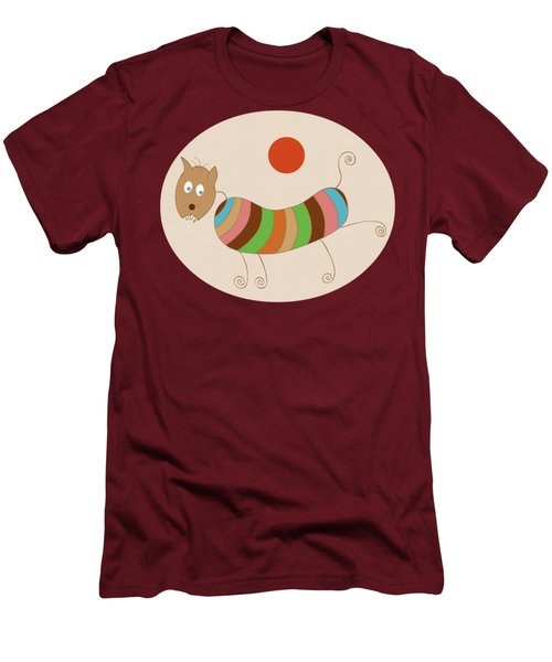 Sausage Dog In Ketchup Sunset Men's T-Shirt (Slim Fit) by Frank Tschakert