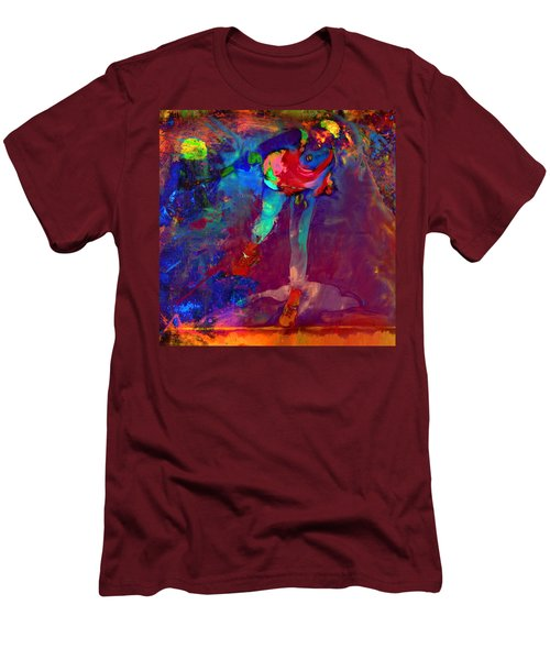 Serena Williams Return Explosion Men's T-Shirt (Slim Fit) by Brian Reaves