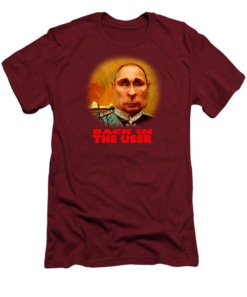 Vladimir Putin Men's T-Shirt (Slim Fit) by Hans Neuhart