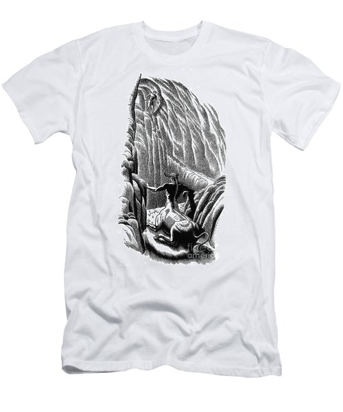 Minotaur, Legendary Creature Men's T-Shirt (Slim Fit) by Photo Researchers