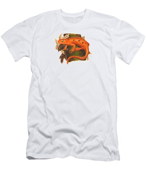 Red Eft Men's T-Shirt (Slim Fit) by Cindy Hitchcock