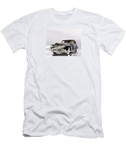 1946 Lincoln Continental Convertible Foggy Reflection Men's T-Shirt (Slim Fit) by Jack Pumphrey