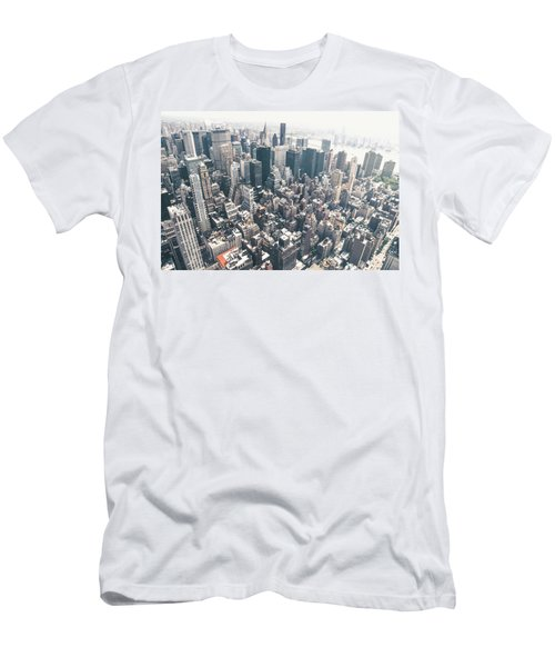 New York City From Above Men's T-Shirt (Slim Fit) by Vivienne Gucwa