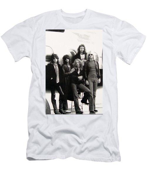 Aerosmith - Eurofest Jet 1977 Men's T-Shirt (Slim Fit) by Epic Rights