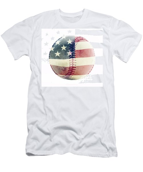 American Baseball Men's T-Shirt (Slim Fit) by Terry DeLuco
