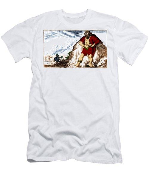 Atlas And Perseus, Greek Mythology Men's T-Shirt (Slim Fit) by Photo Researchers