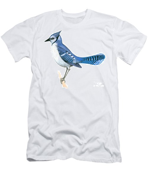 Blue Jay  Men's T-Shirt (Slim Fit) by Anonymous