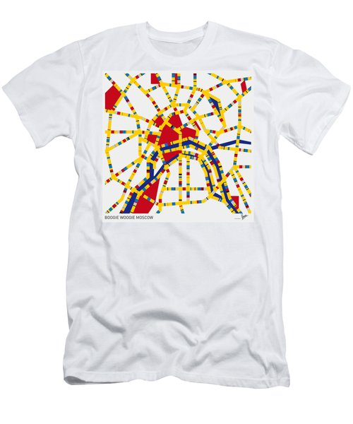 Boogie Woogie Moscow Men's T-Shirt (Slim Fit) by Chungkong Art