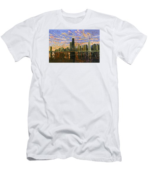 Chicago Men's T-Shirt (Slim Fit) by Mike Rabe